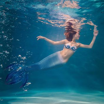 NEW Adult Mermaid tails for swimming Mermaid Tail with monofin Zeemeerminstaart Tail child mermaid costume Swimmable Swimwear
