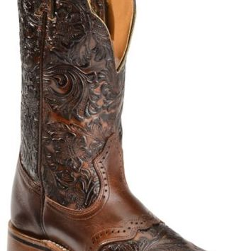Boulet Hand Tooled Dankan Ranger Cowgirl Boots - Square Toe - Sheplers