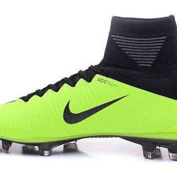 ICIKBTW Advanced Design Nike Mercurial Superfly V FG Black Green Men's Football Shoes