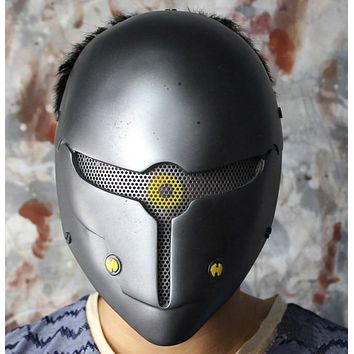 Game Metal Gear Solid Gray Fox Cosplay Mask Full Face Wire Mesh Airsoft Helmet