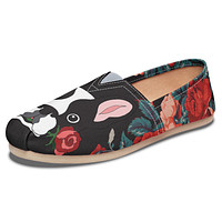 Boston Terrier Rose Casual Shoes