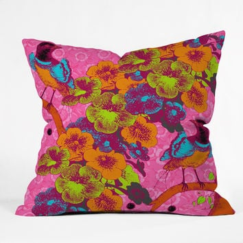 Caroline Okun Achimenes Throw Pillow