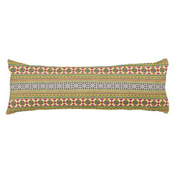 Geometric pattern body pillow