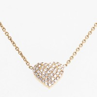 Women's Michael Kors 'Brilliance' Pave Heart Necklace