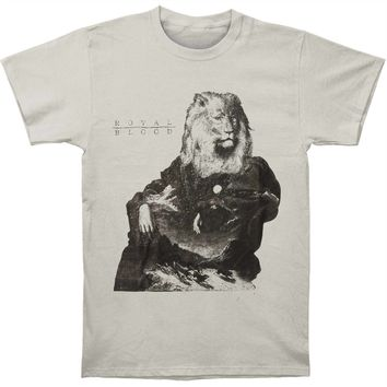 Royal Blood Men's  Lion Slim Fit T-shirt Silver