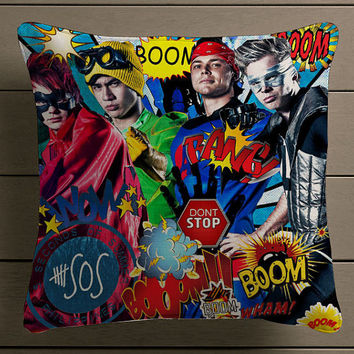 5 Sos Dont stop 5 Seconds of Summer Beautiful Square Pillow Case Custom Zippered Pillow Case one side and two side