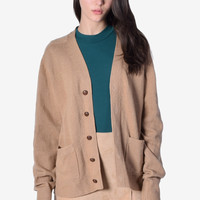 ECH Basic Oversized Cardigan - Tan