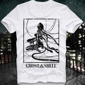 2018 Summer T Shirt New High Quality Ghost In The Shell Manga Anime Japan Japanese Retro Vintage Akira Custom Printed T Shirts