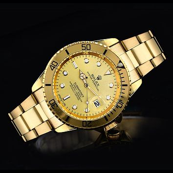 Rolex tide brand fashion men and women fashion watches F-SBHY-WSL Gold