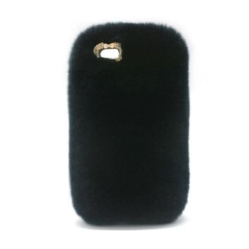 Luxury Cute Rabbit Fur mobile Phone Case Fluffy Warm Mobile Phone Protective Case Cover for iPhone 6 6s plus for iphone x cases