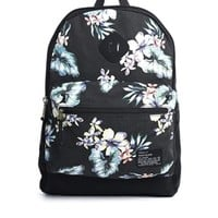 River Island Backpack with Hawaiin Print