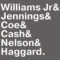 Outlaw Country Music Legends Names T-Shirt