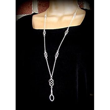 Women's Fashion ID Badge Lanyard / Key Chain Necklace with Multiple Handcrafted Silver Celtic Knots - Walmart.com