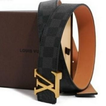 LOUIS VUITTON BELT GENUINE LEATHER BELT BELTS NEW