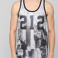 New York Area Code Mesh Tank Top - Urban Outfitters
