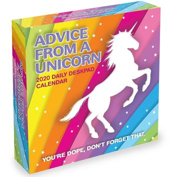 Advice from a Unicorn Daily Page Desktop