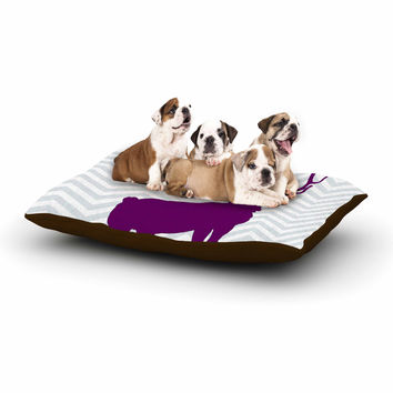 "Suzanne Carter ""Chevron Deer"" Purple  Dog Bed"