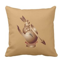 A hand and an arrow from the hall of paradise throw pillow