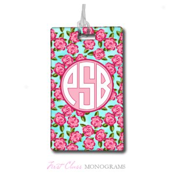Tracey Gurley Tiny Roses Monogram Luggage Tag