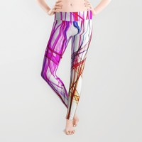 PIXEL RAINBOW Leggings by Chrisb Marquez