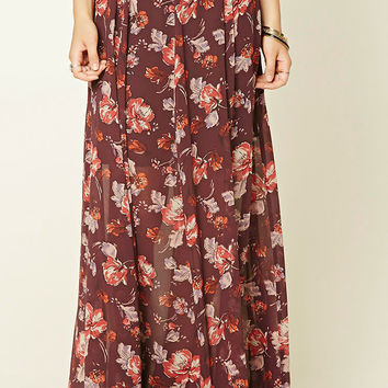 Contemporary Floral Maxi Skirt