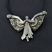 Tessa's Clockwork Angel Pendant by hebelmet on Etsy