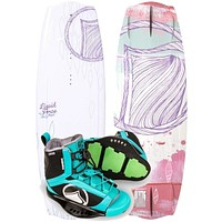Liquid Force Angel Wakeboard Package with Plush Boots 2017