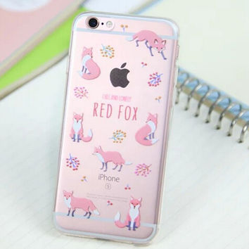 Cute Fox Cover Case for iPhone 5s 5se 6 6s Plus Gift 318