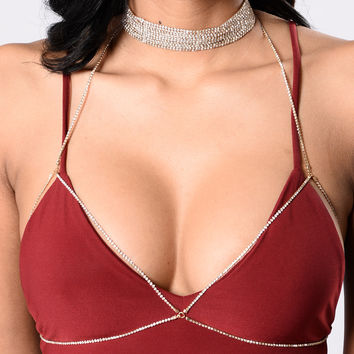 Shimmy Shimmer Body Chain - Gold