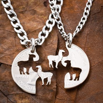 Llama Best Friends Necklaces