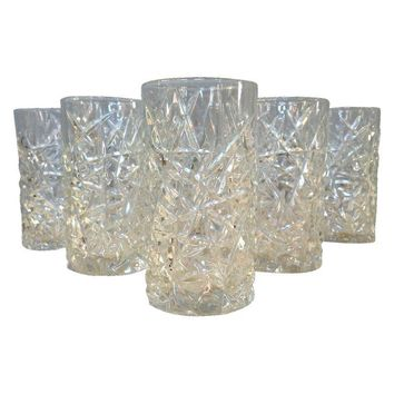 Pre-owned Pressed Glass Tumblers - Set of 6