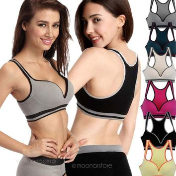 DCCKIX3 Seamless Racerback Fitness Sports Yoga Push Up Bra Vest Tops = 1932027652
