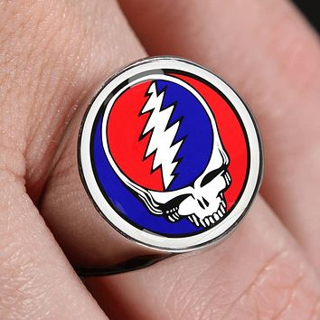 Steal Your Face Dead Head Ring