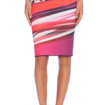 Clover Canyon Botanical Wave Reversible Skirt in Pink