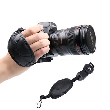 2016 Hot Newest Camera Hand Strap Grip For NIKON D7000 D5100 D5000 D3200 Canon Sony Brand Leather Camera Accessories Wrist Belt