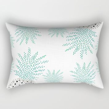 Pineapple Pattern Rectangular Pillow by ES Creative Designs