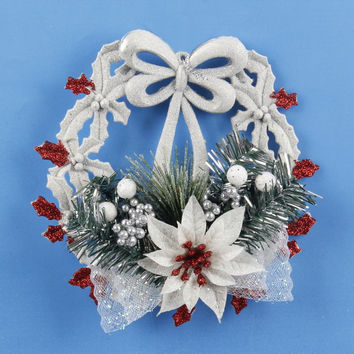 White Christmas Garland Wreath Home Door Window Pendant & Drop Ornaments Christmas Decoration Xmas Tree Hanging Decor Natal 2016