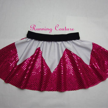 Sleeping Beauty inspired Sparkle Running Misses Round skirt