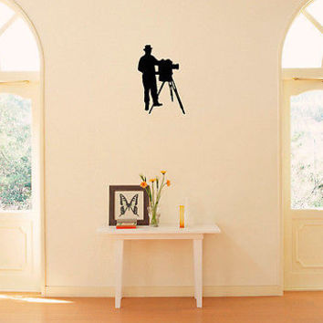 Wall Vinyl Decals Sticker People Photographer KJ1085