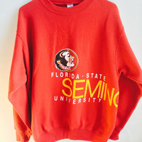vintage oversized florida state university FSU seminoles crewneck sweatshirt / XL