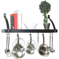 Range Kleen Bookshelf Pot Rack (black Enamel)