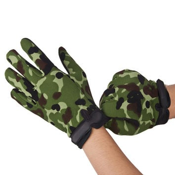 Shockproof Cycling Gloves Breathable Bike Gloves Tactical Airsoft Camouflage Full Finger Glove M L XL For Riding Hunting Glove