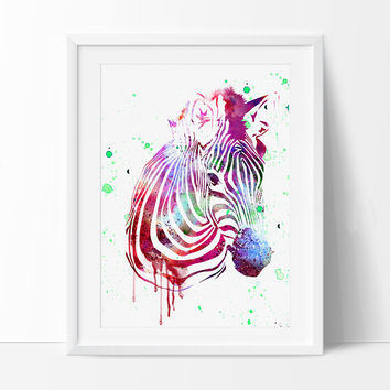 Zebra Watercolor Art Print, Zebra Wall Art, Watercolor Art, Watercolor Painting, Watercolor Print, Animal Poster home Decor(15)