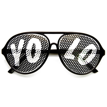 Party YOLO Summer Retro Aviator Glasses 8855