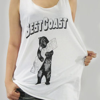 BEST COAST The Only Place Indie Rock Garage Rock Surf Pop Shirt Women Tank Top Vest Women Tunic Top Singlet White Shirt Size S M