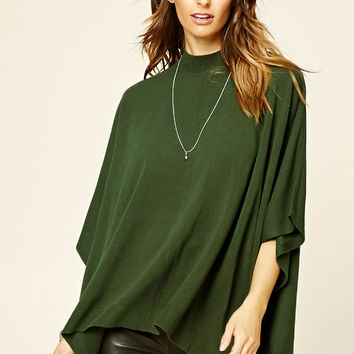 Mock Neck Dolman Sweater