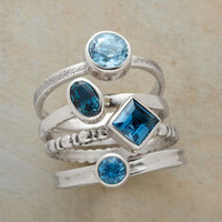 TOPAZ QUATRO RING SET         -                Stack         -                Rings         -                Jewelry         -                Categories                       | Robert Redford's Sundance Catalog