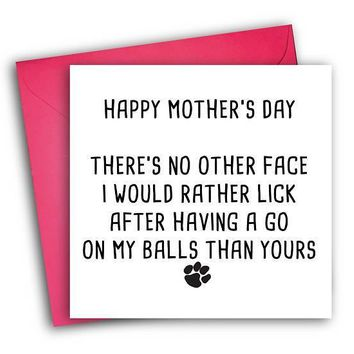 From The Dog Funny Mother's Day Card Card For Her Card For Mom FREE SHIPPING