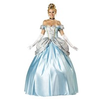Kidcos Sissi Court Dress Clothes Cinderella Snow White Cosplay Clothes (Medium)