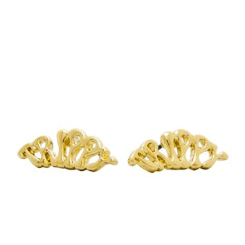 Trippy Earrings - Gold
